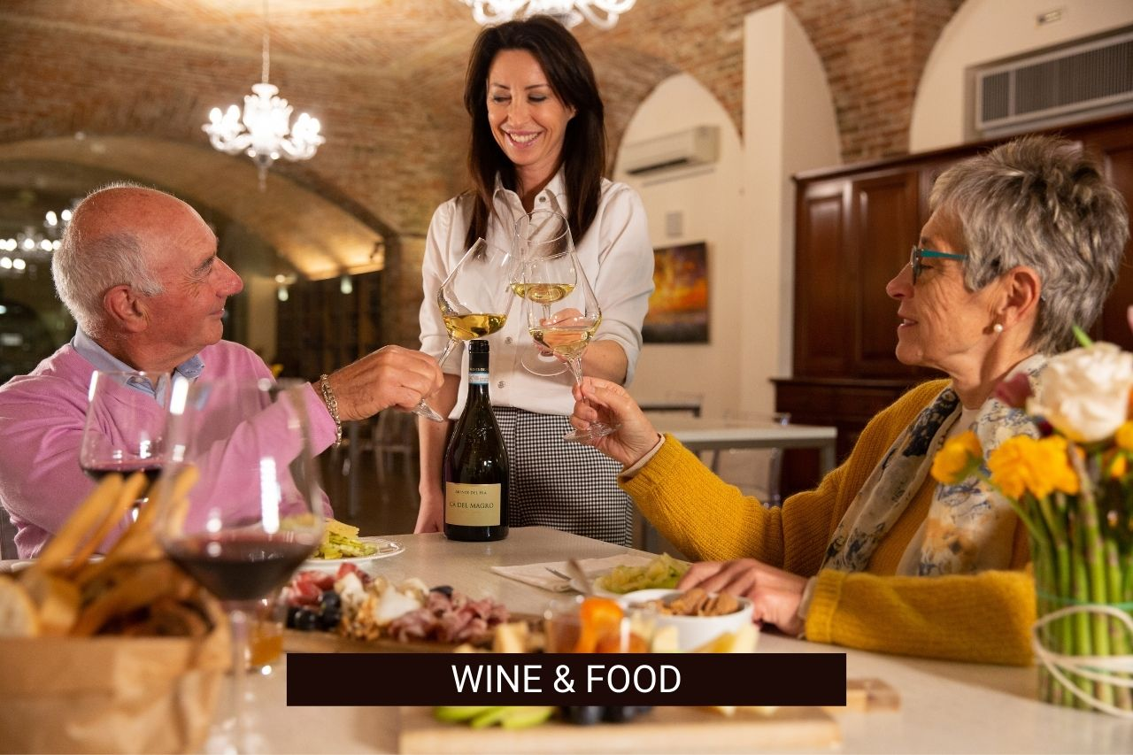 wine and food experience at Monte del Frà